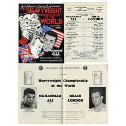 Muhammad Ali vs. Brian London 1966 Fight Program