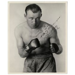 Jack Sharkey, Heavyweight Boxer, 8x10 Signed Photo