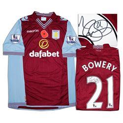 Aston Villa Jersey Worn & Signed By Jordan Bowery COA