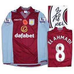 Aston Villa Jersey Worn & Signed By Karim El Ahmadi COA