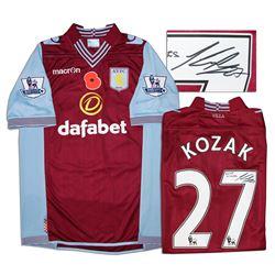 Aston Villa Jersey Worn & Signed By Libor Kozak