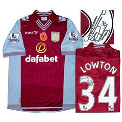 Aston Villa Jersey Worn & Signed By Matthew Lowton COA