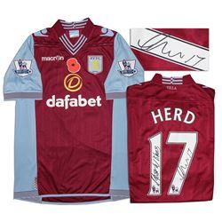 Aston Villa Jersey Worn & Signed By Chris Herd COA