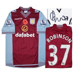 Aston Villa Jersey Worn & Signed By Calum Robinson COA