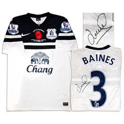 Leighton Baines Match Worn Everton Football Shirt COA