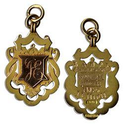 19th Century Football Gold Medal From Aston Villa's Win