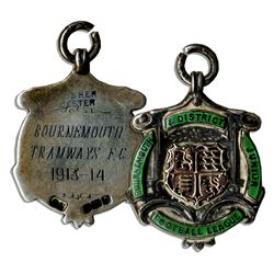 Bournemouth & District Jr. Football League Medal 1913-1914