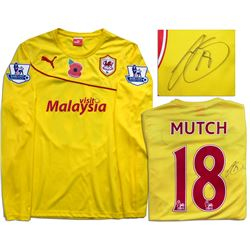Jordon Mutch Match Worn Cardiff City Shirt COA