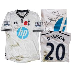 Tottenham Shirt Match Worn by Michael Dawson w Club COA