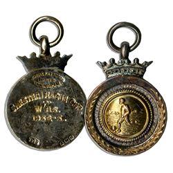 Football Season League Cup Medal From 1932-33 Season
