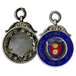 1911-12 Silver Medal Frm Hampshire Football Association