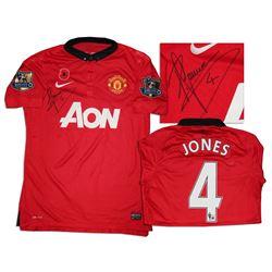 Phil Jones Signed Match Worn Shirt Manchester United
