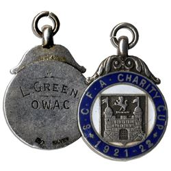 Silver Medal From the 1921-22 Suffolk County Football