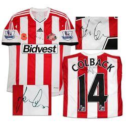 Jack Colback Match Worn Sunderland Shirt Signed COA