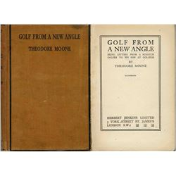 1934 Golf From a New Angle Book Theodore Moone