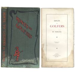 1902 Limited Book ''Hints to Golfers'' Niblick; 355/ 1000