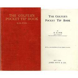 1912 The Golfer's Pocket Tip Book Golf G.D. Fox
