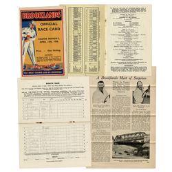 1936 Brooklands Racing Program