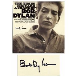 Bob Dylan Signed Album Times Changin' Epperson COA