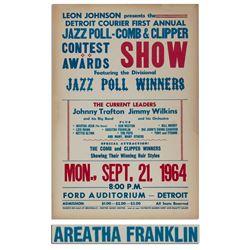 Aretha Franklin 1964 Original Detroit Concert Poster
