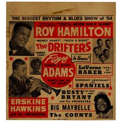Roy Hamilton and The Drifters Concert Poster From 1954