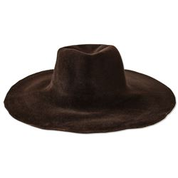 Alicia Keys Personally Owned Funky Brown Floppy Hat COA