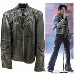 Adam Lambert Leather Jacket Stage-Worn on American Idol