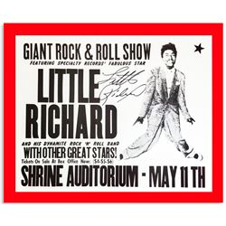 Little Richard signed repro concert poster ''Giant Rock & Roll Show''