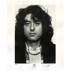 Jimmy Page Signed 16'' x 20'' Photo One of 50 Limited