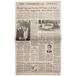 16 August 1977 death of Elvis Presley Special Ed. of Memphis newspaper 16 August 1977 death of Elvis