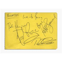 Album Page Signed by the Roulettes In Ink