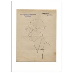 Enrico Caruso Hand-Drawn Sketch from Buenos Aires