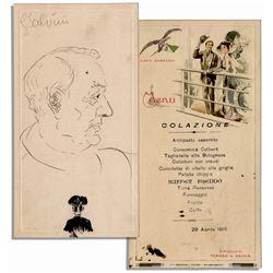 Opera Great Enrico Caruso Hand-Drawn Sketch