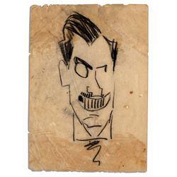 Enrico Caruso Hand-Drawn Sketch