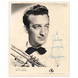 Harry James Signed Black & White 7'' x 9'' Photo Jazz