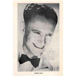 Sammy Kaye 6'' x 9'' Signed Photo 1941 Big Band Era