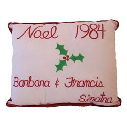 Frank Sinatra 1984 Christmas Pillow from their Home