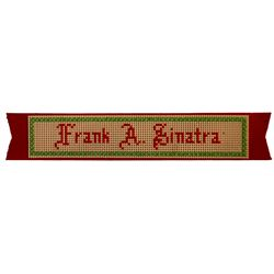 Frank Sinatra Christmas Ribbon, Personally Owned by Him