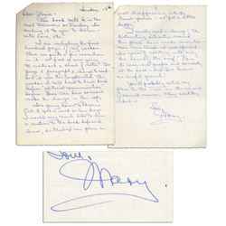 Mary Astor Autograph Letter Signed Regarding Her Novel