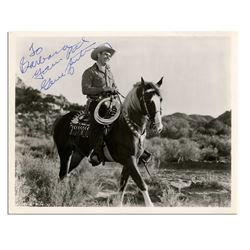 Gene Autry Signed 10'' x 8'' Vintage Western Photo