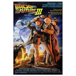 ''Back to the Future Part III'' Cast Signed Poster