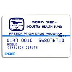 Milton Berle Writers Guild Prescription Coverage Card