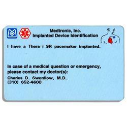 Milton Berle's Pacemaker Card ex: Bonham's Auction