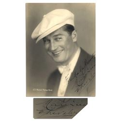 Maurice Chevalier 6.25'' x 8.5'' Matte Signed Photo
