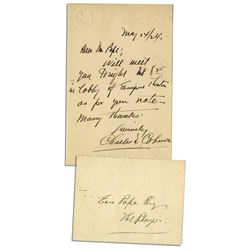 Charles D. Coburn Autograph Letter Signed