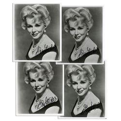 Lot of Four Eva Gabor Smudged Signed Photos