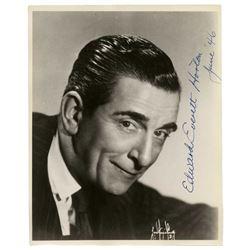 Edward Everett Horton Signed Photo -- 8'' x 10''