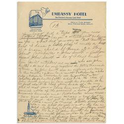 Moe Howard Handwritten Jokes & Gags, Circa 1940