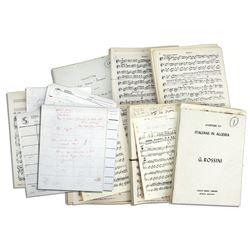 Sheet Music From Captain Kangaroo 1959-1960 Tour