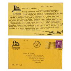 Stan Laurel Letter Signed re Charlie Chaplin Movie